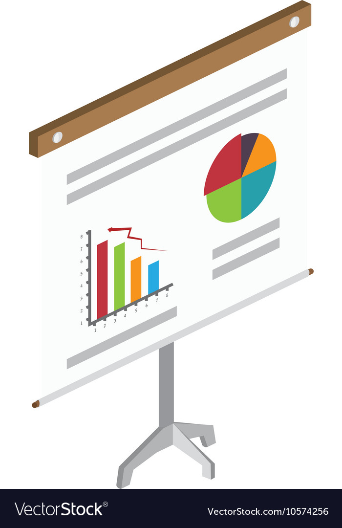 Board Pie Chart Analysis Royalty Free Vector Image