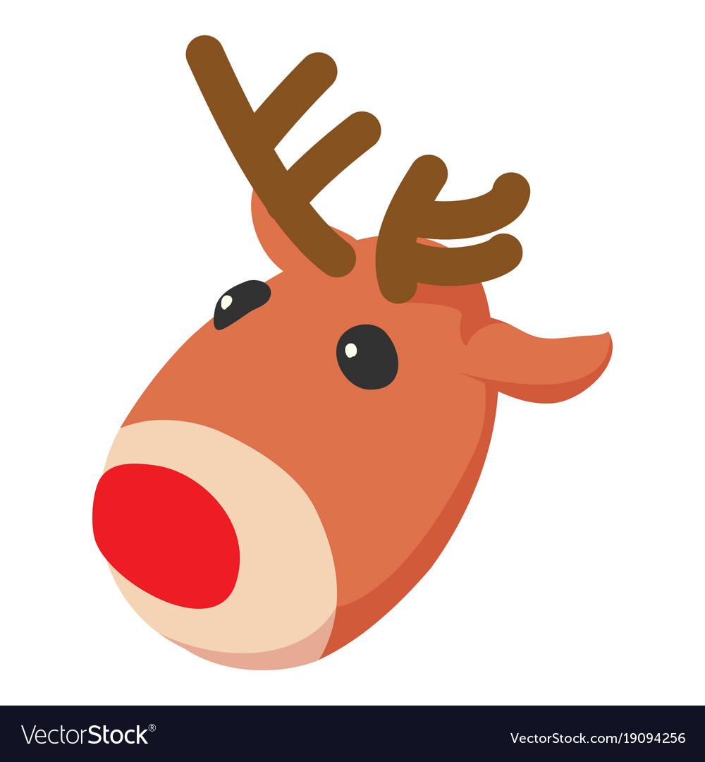 Christmas deer icon isometric 3d style