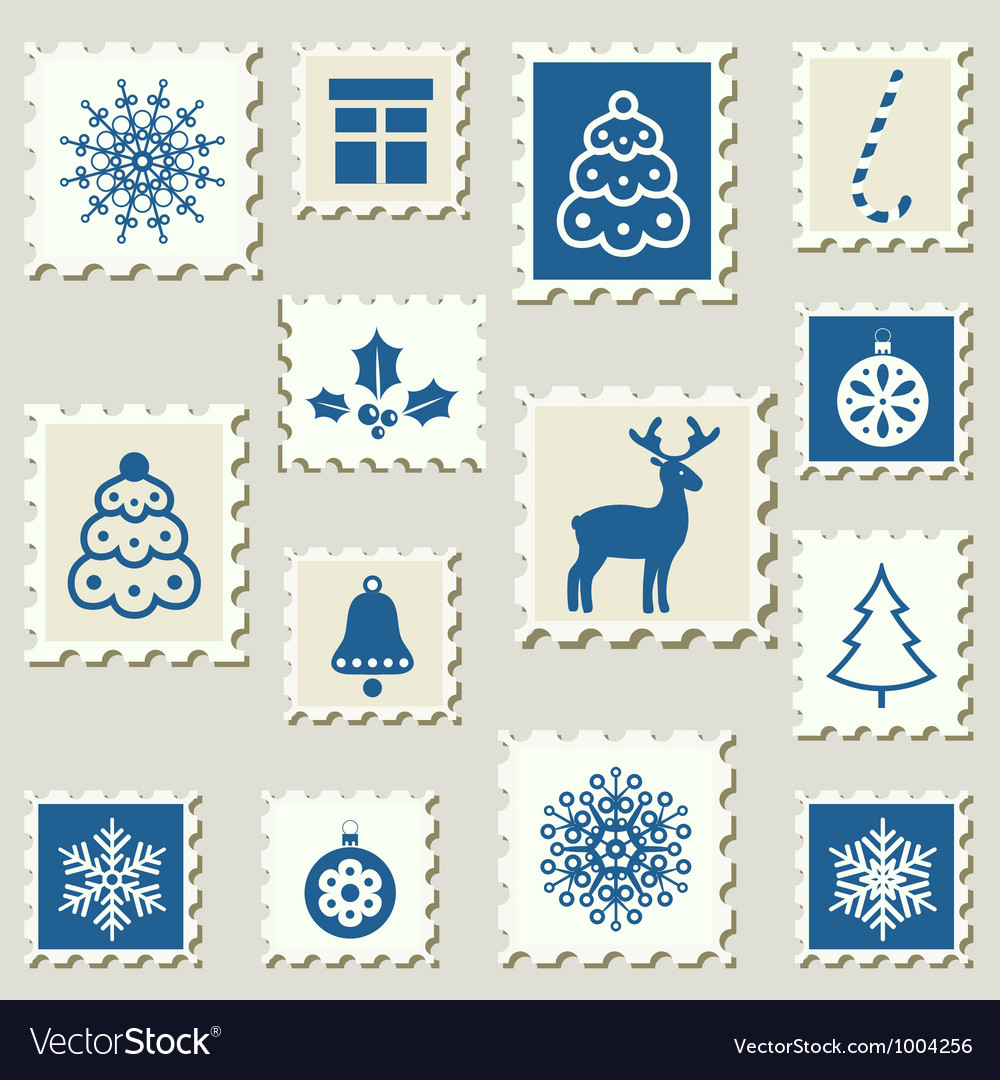 Postage stamps winter