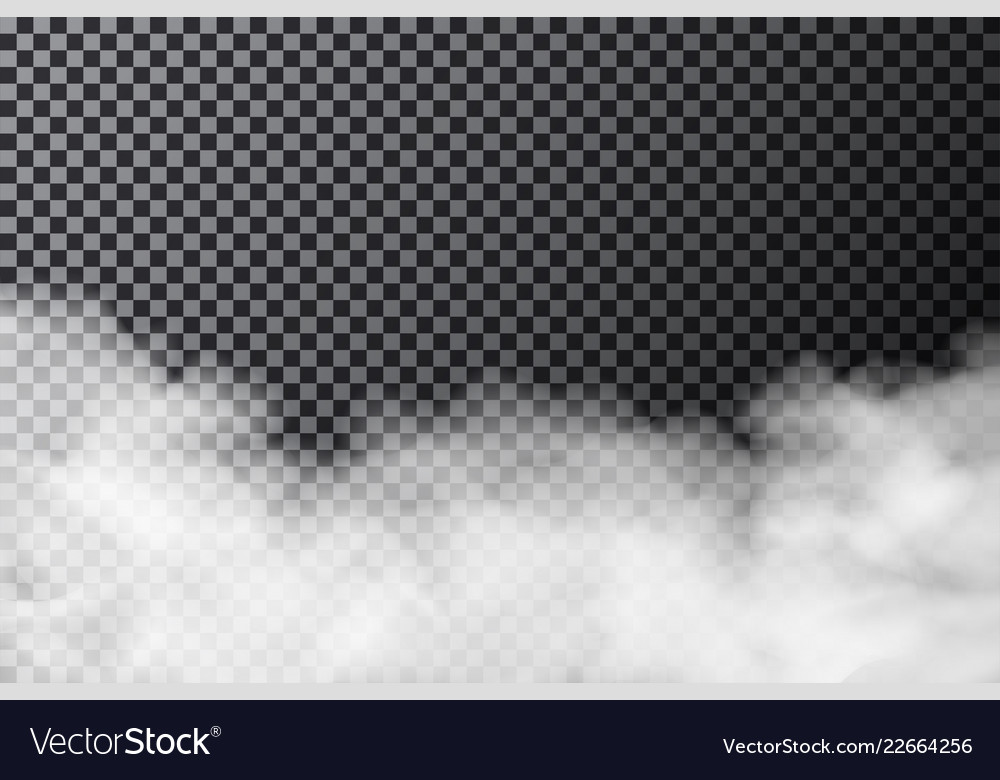 Smoke cloud on transparent background realistic