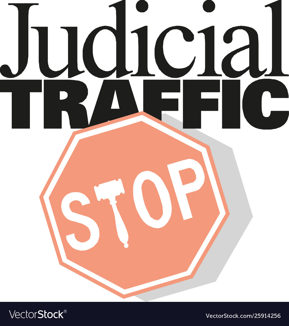 Stop sign icon judicial traffic