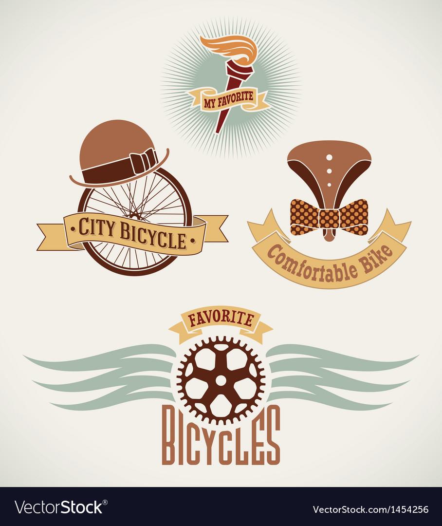 Vintage bicycle labels