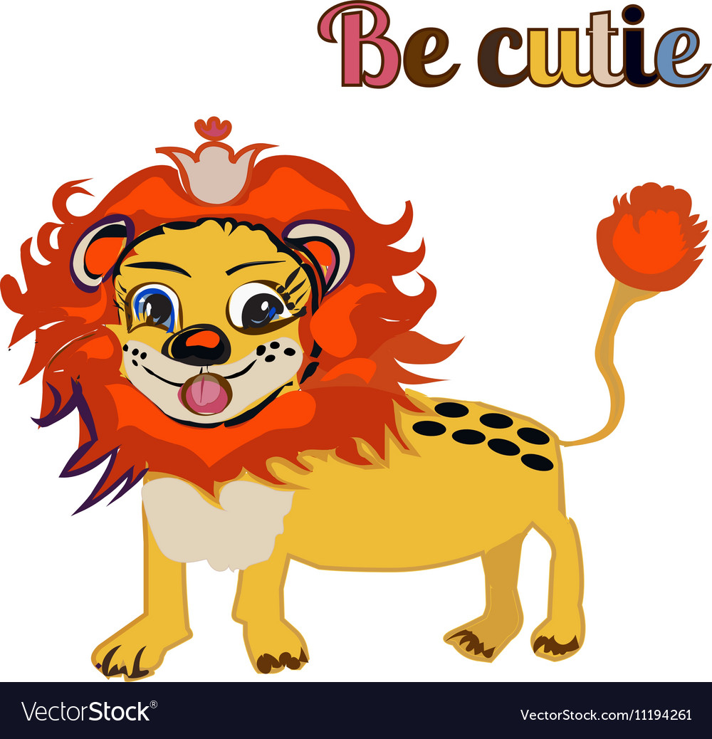BE CUTIE lion FOR PRINT kid s book