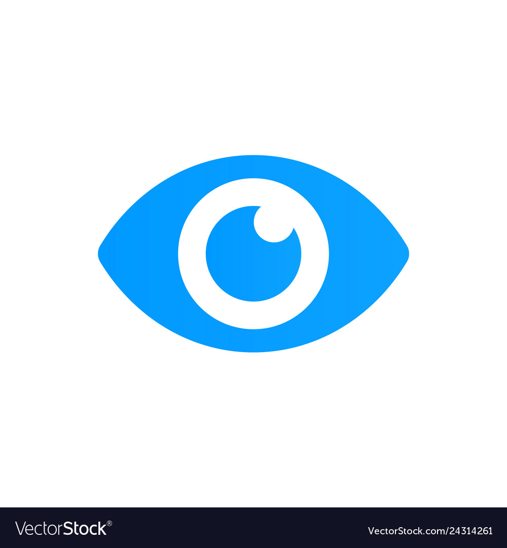Blue eye icon look and vision icon