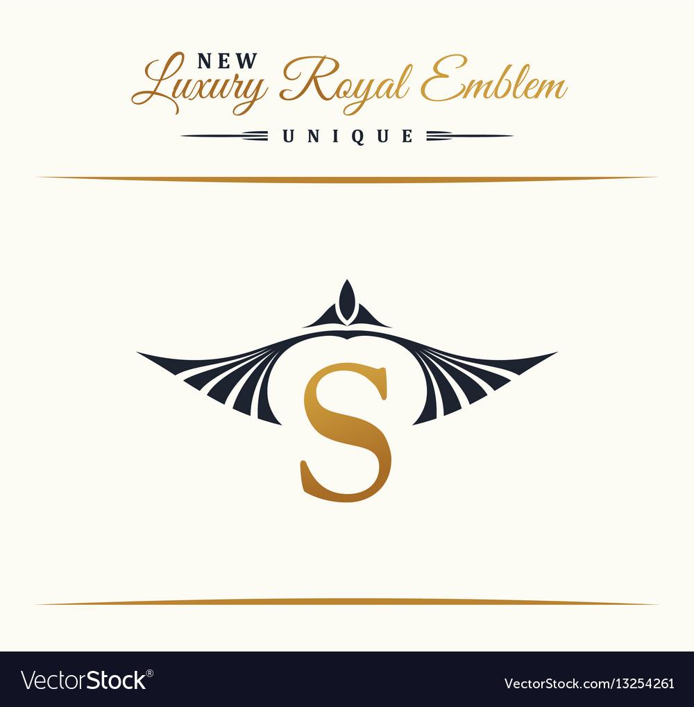 Calligraphic luxury line logo flourishes elegant