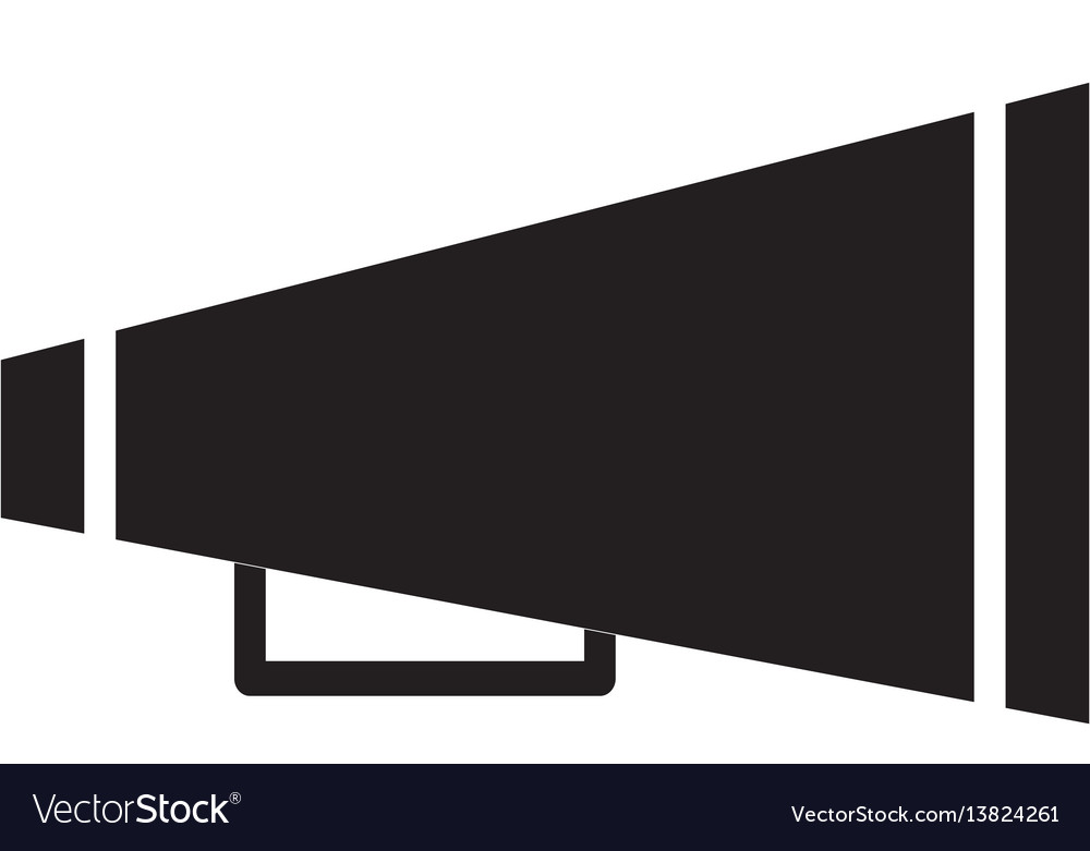 Cheer megaphone icon vector image