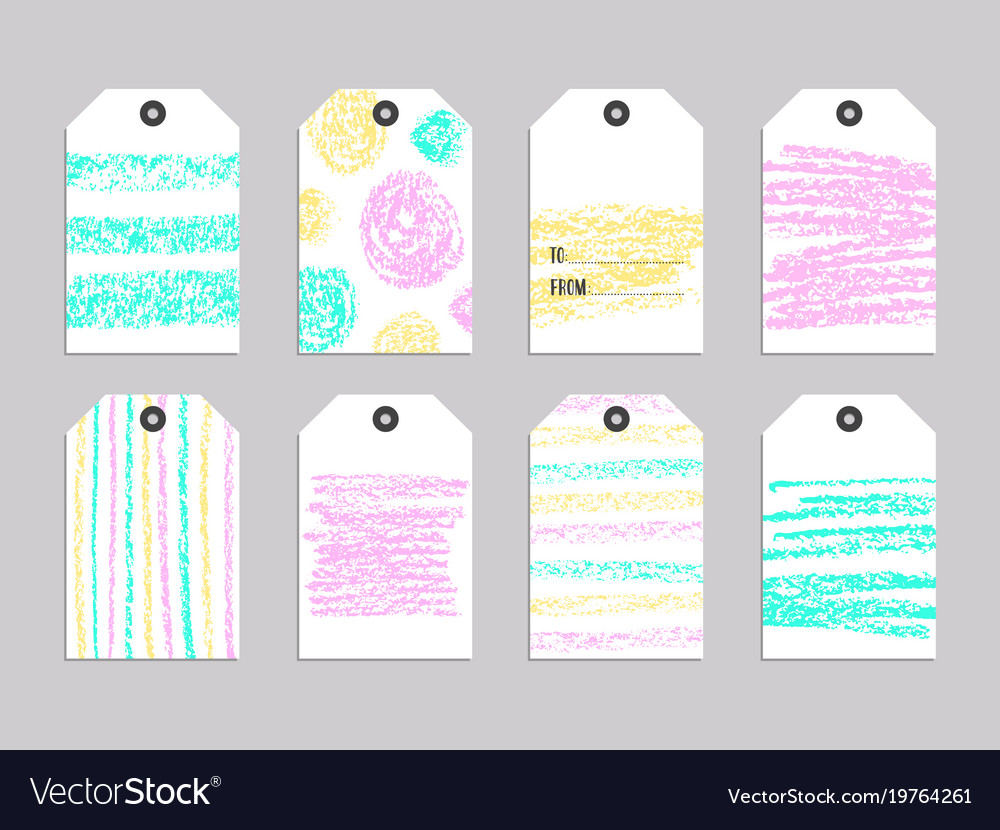 Cute Tags: Collection Of Cute Gift Tags Royalty Free Vector Image