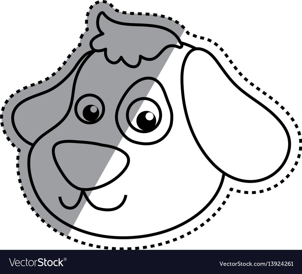 Dog cartoon drawing head