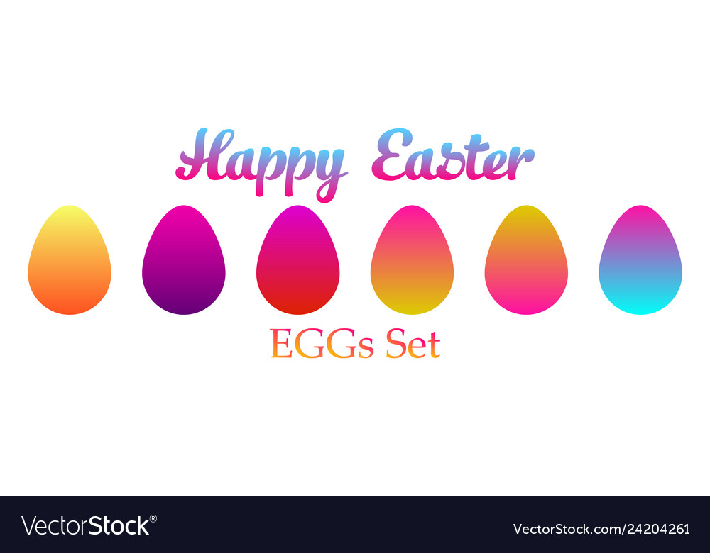 Easter eggs set icon