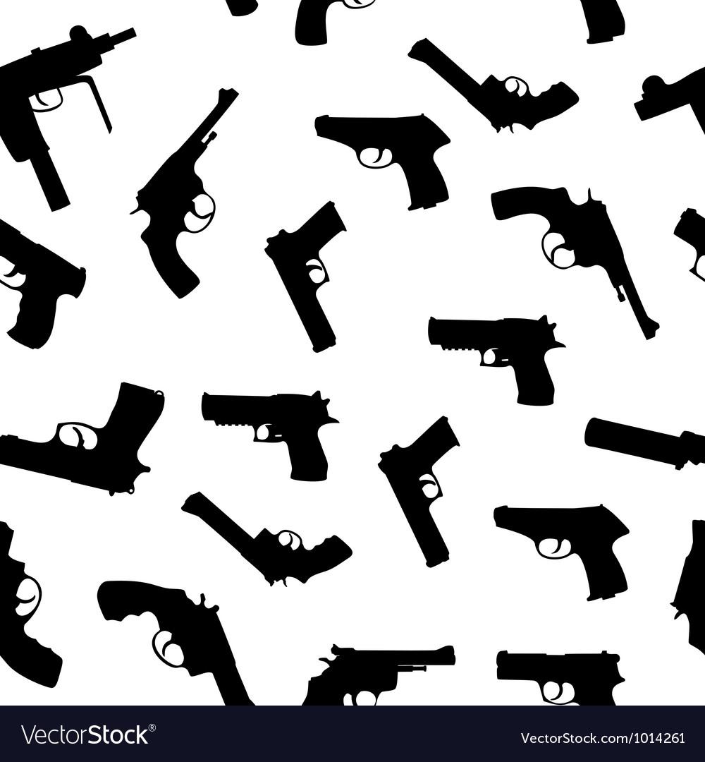 Guns set seamless pattern