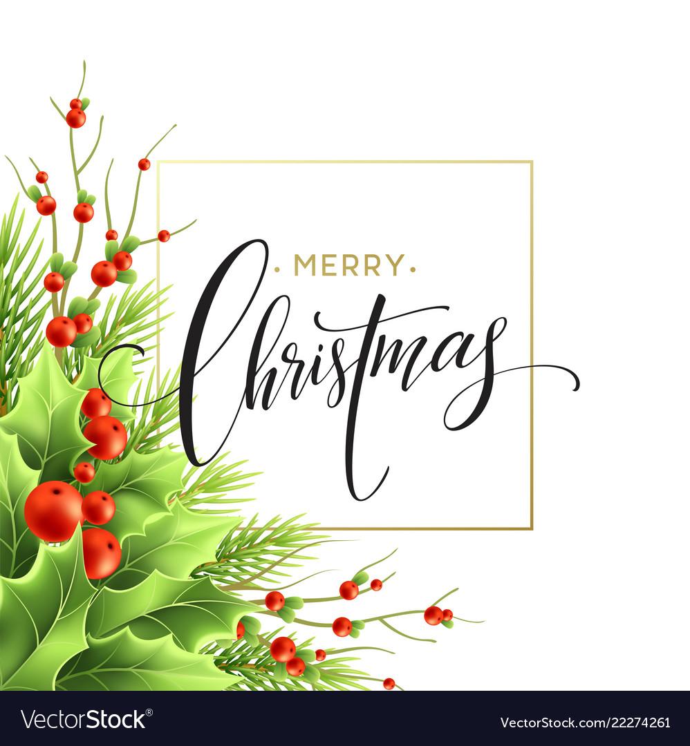 Merry christmas greeting card design
