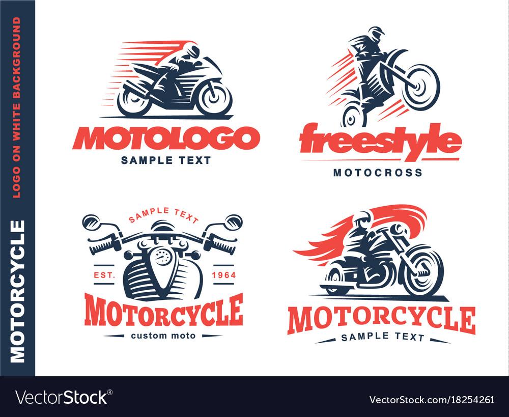 Motorcycle shield emblem logo design