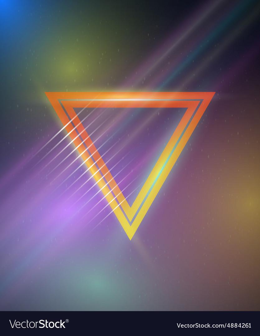 Retro Disco 80s Neon Poster made in Tron style