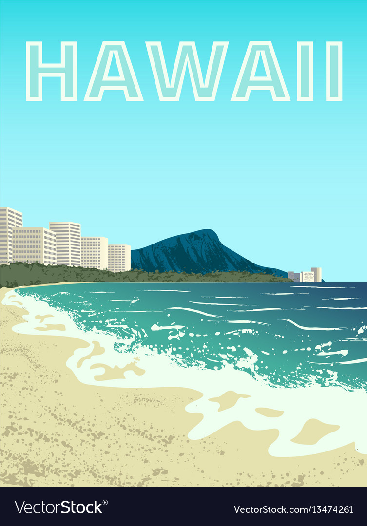 Waikiki beach oahu island
