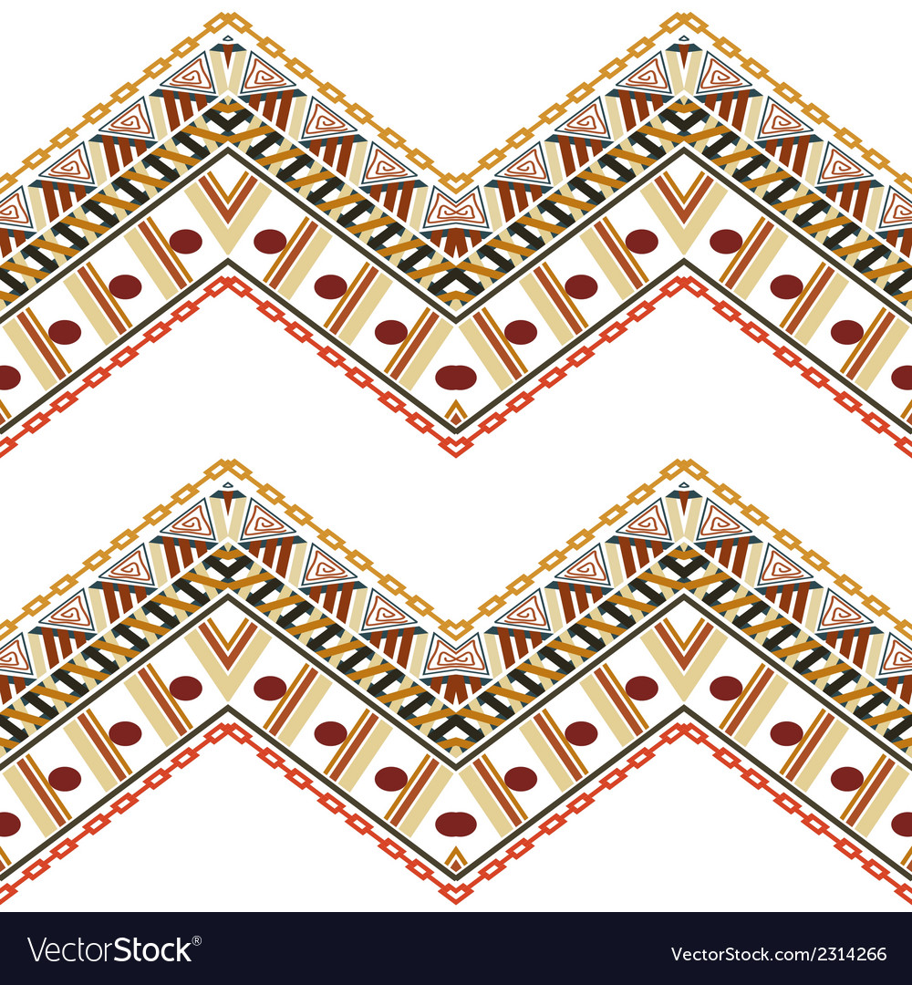 Abstract seamless texture in ethnic style Stock