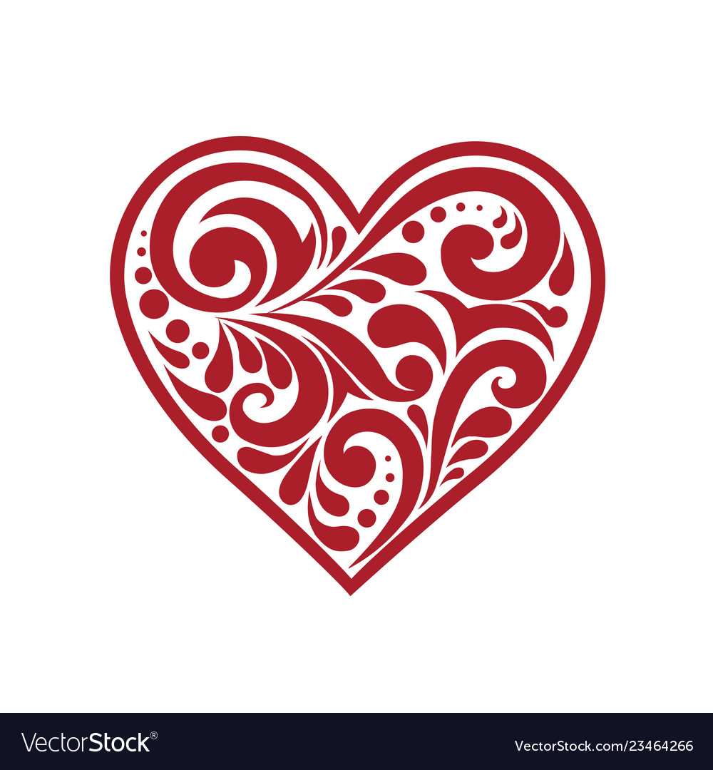Beautiful heart with a pattern