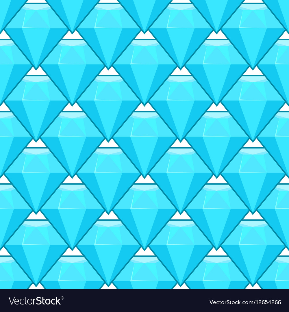 Blue diamonds seamless pattern