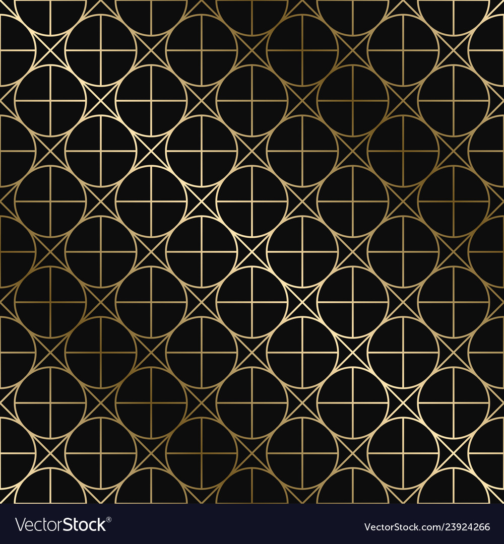 Geometric art deco pattern - seamless