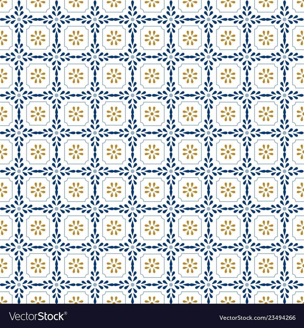 Mediterranean decor pattern lisbon tile ornament