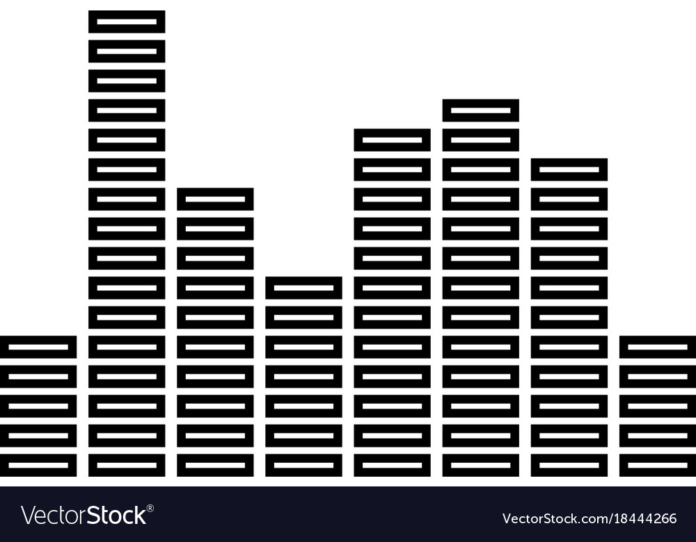 Music equalizer black icon