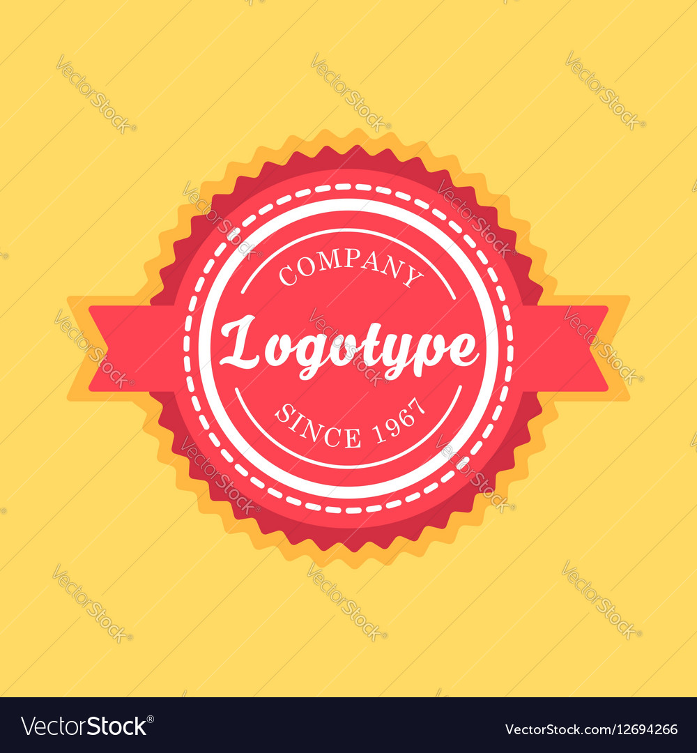 Vintage badge and label template