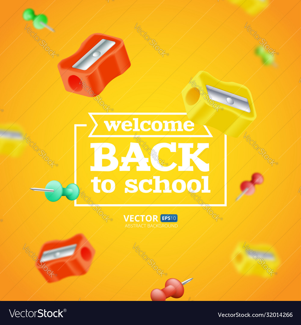 Welcome back to school poster or banner