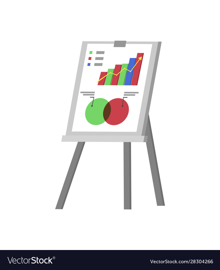 Whiteboard with visualized information info stand