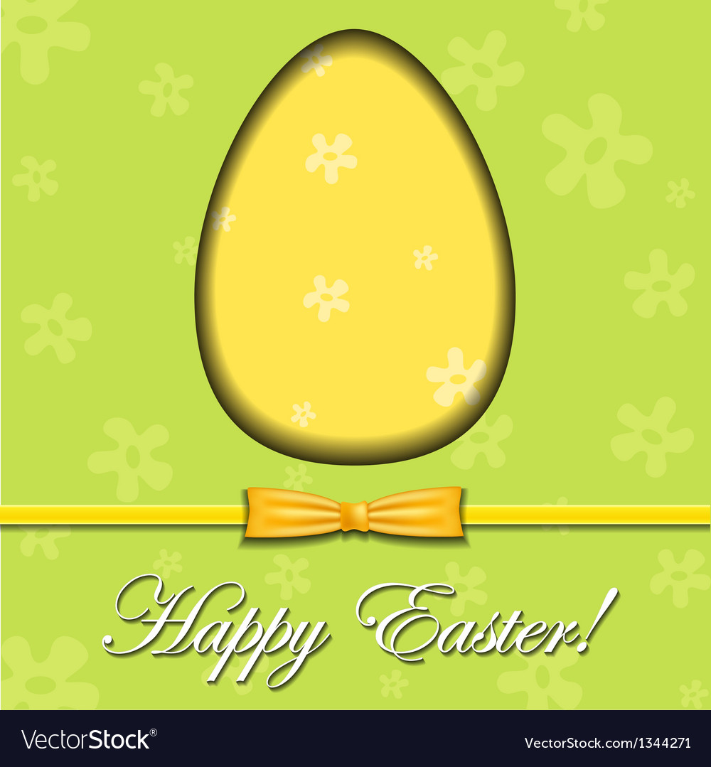 Abstract Easter egg greeting card