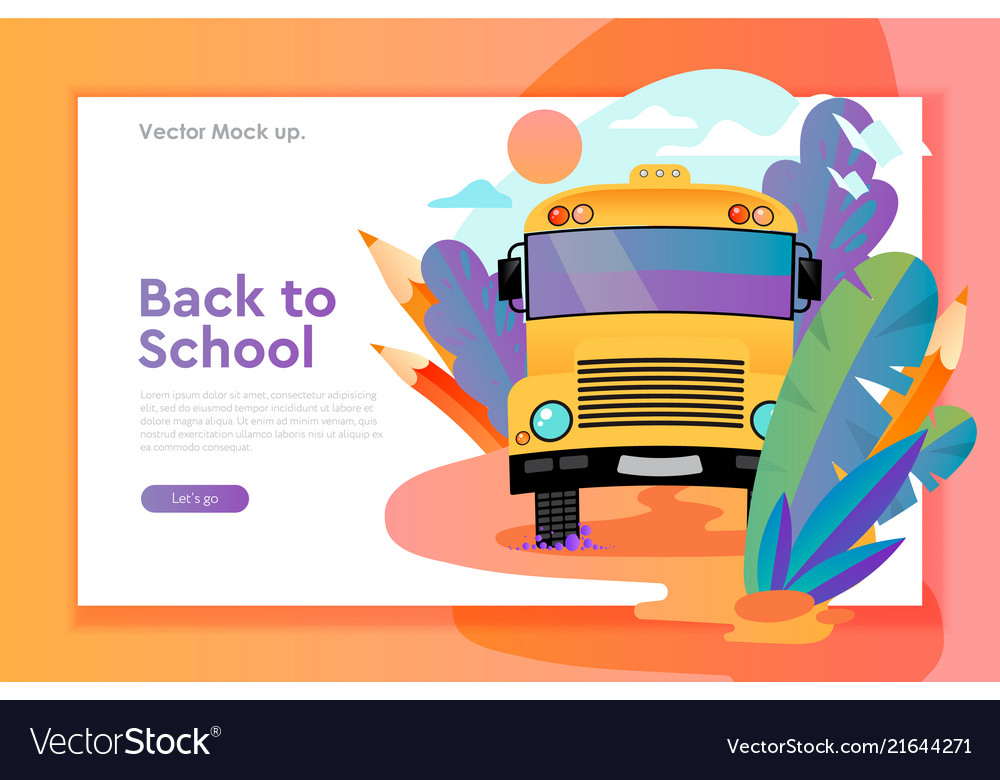Back to school web design template