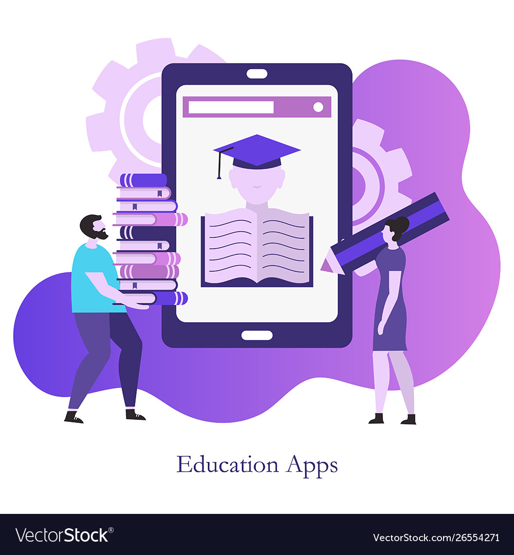 Education app concept education app concept