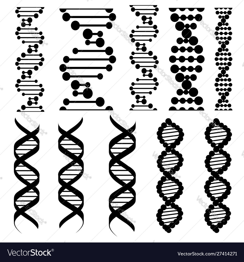 Genetic code twisted dna molecules