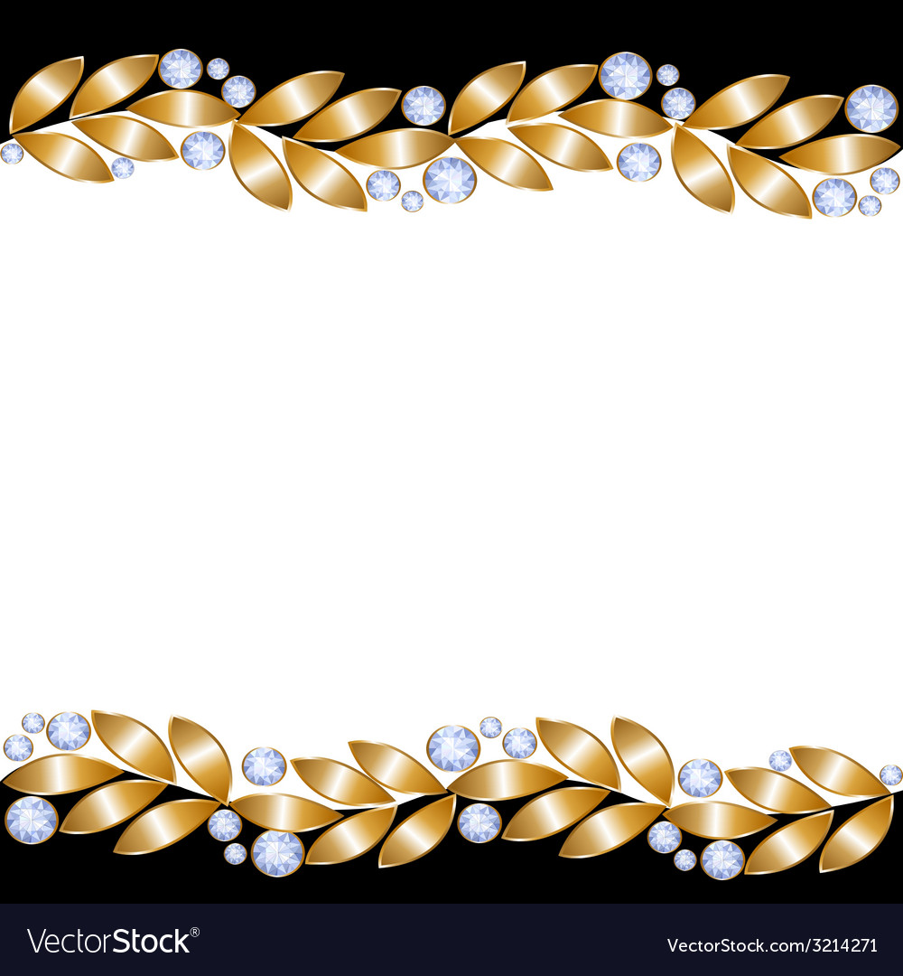 Greeting card with golden leaves vector image