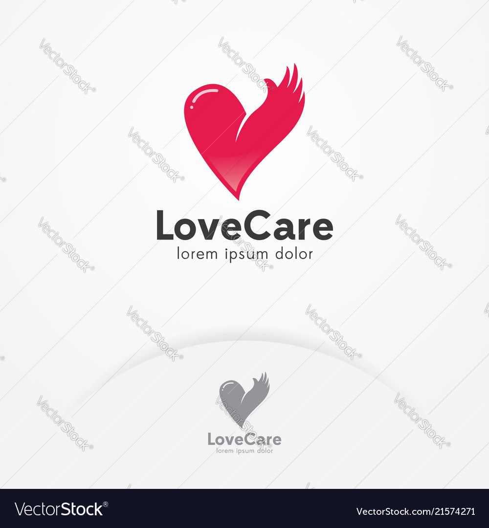 Heart and hand logo design