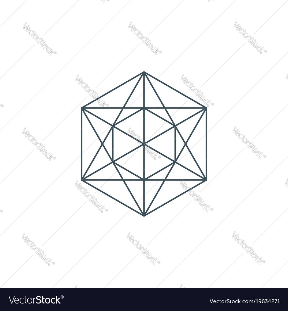 Metatrons cube vector image