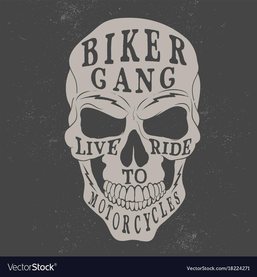 Skull logo for biker theme