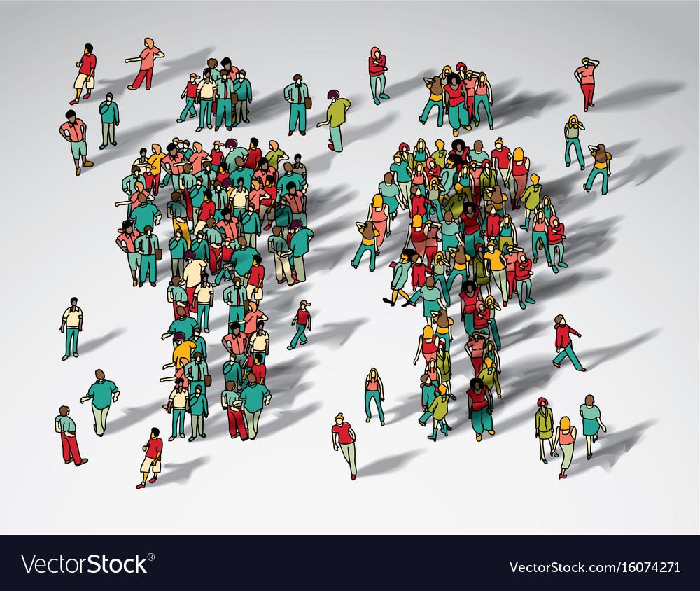 Symbol big man and woman group vector image