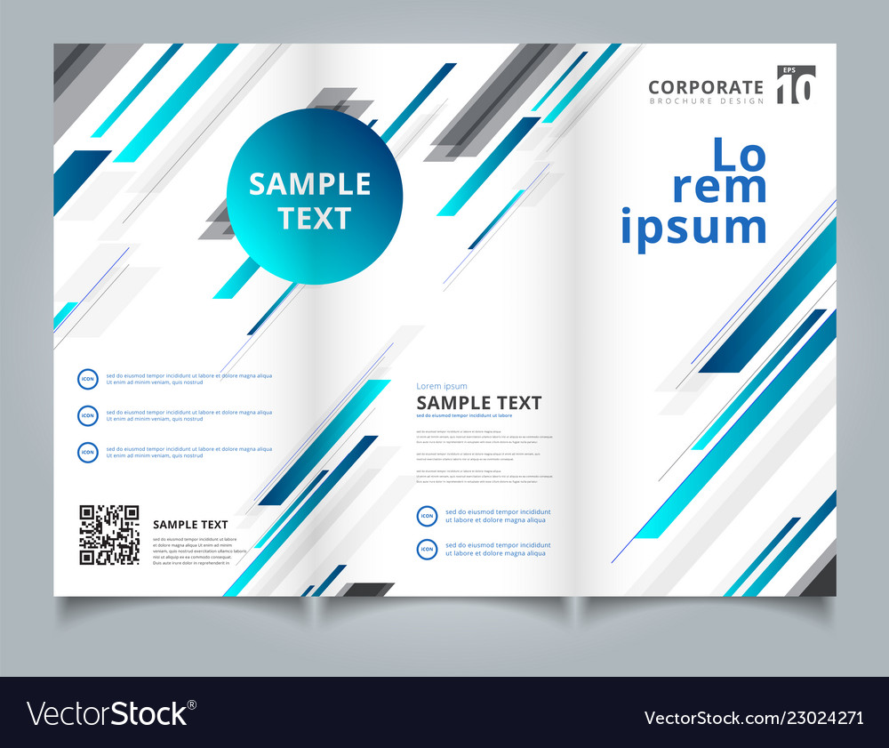 Template brochure layout design abstract