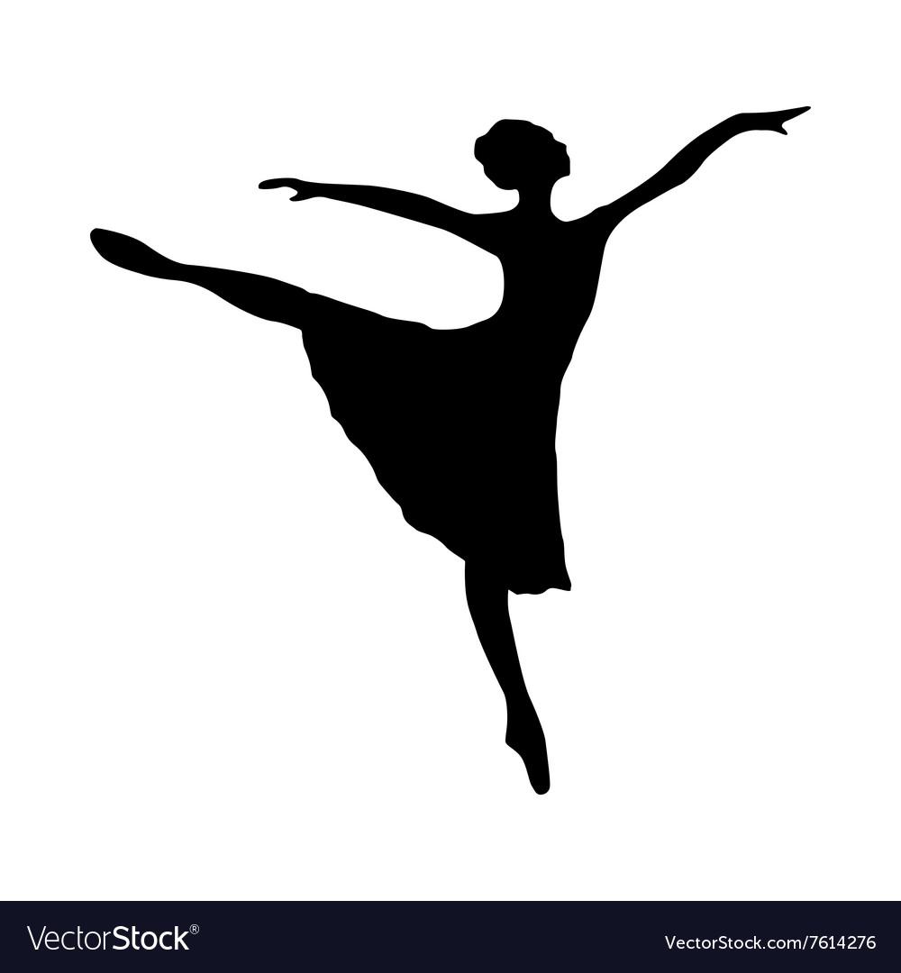 ballerina silhouette black royalty free vector image rh vectorstock com disco dancer silhouette vector disco dancer silhouette vector
