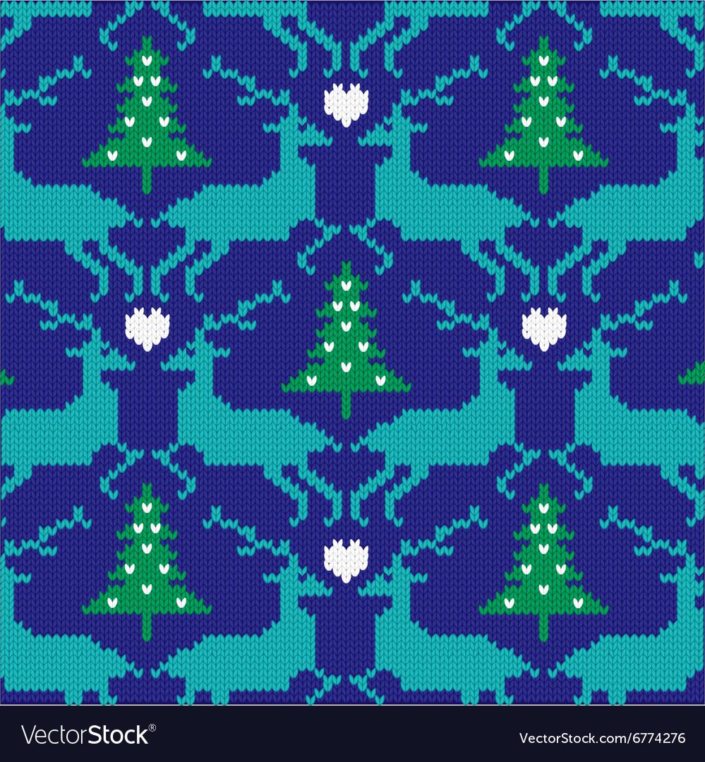 Knit nordic reindeer