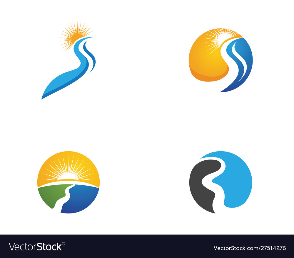 river logo template icon royalty free vector image river logo template icon royalty free vector image