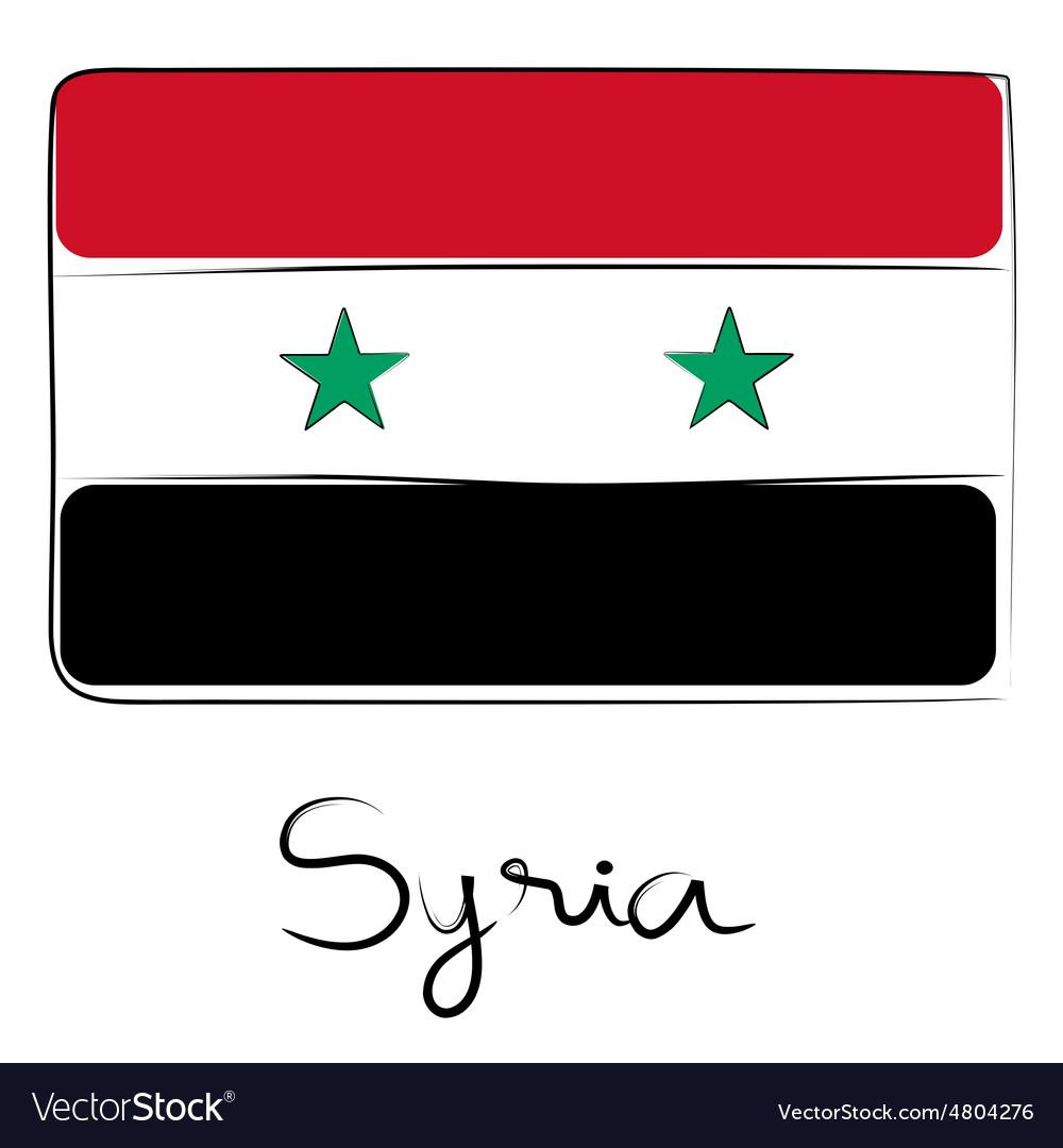 Syria flag doodle