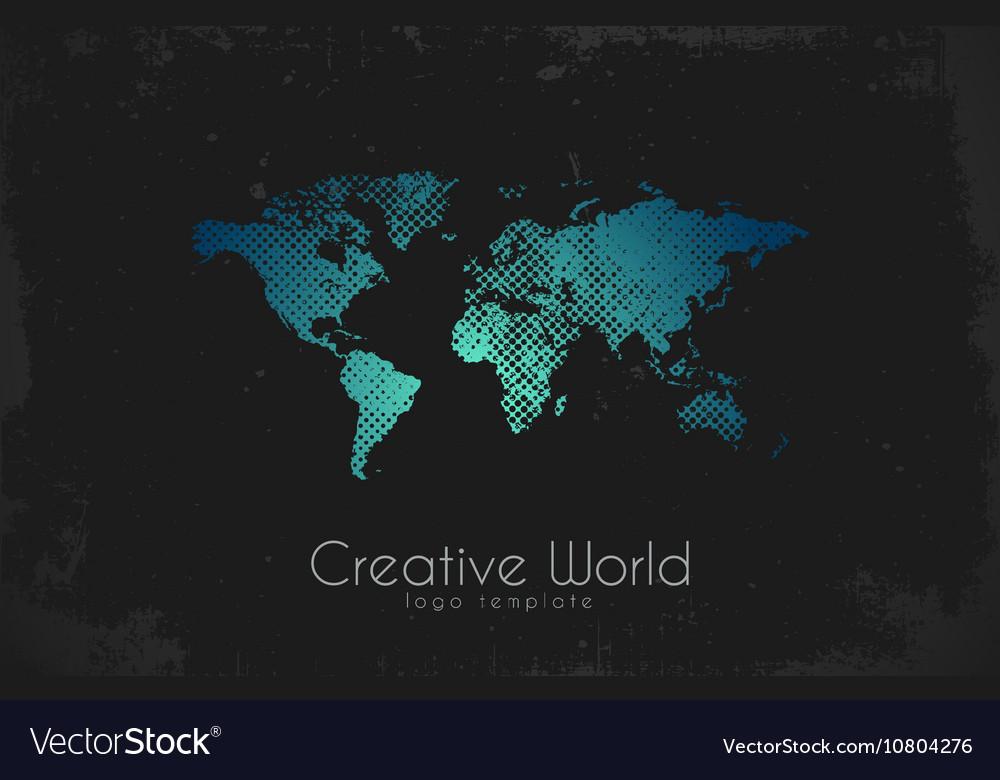World map logo Creative world design Creative