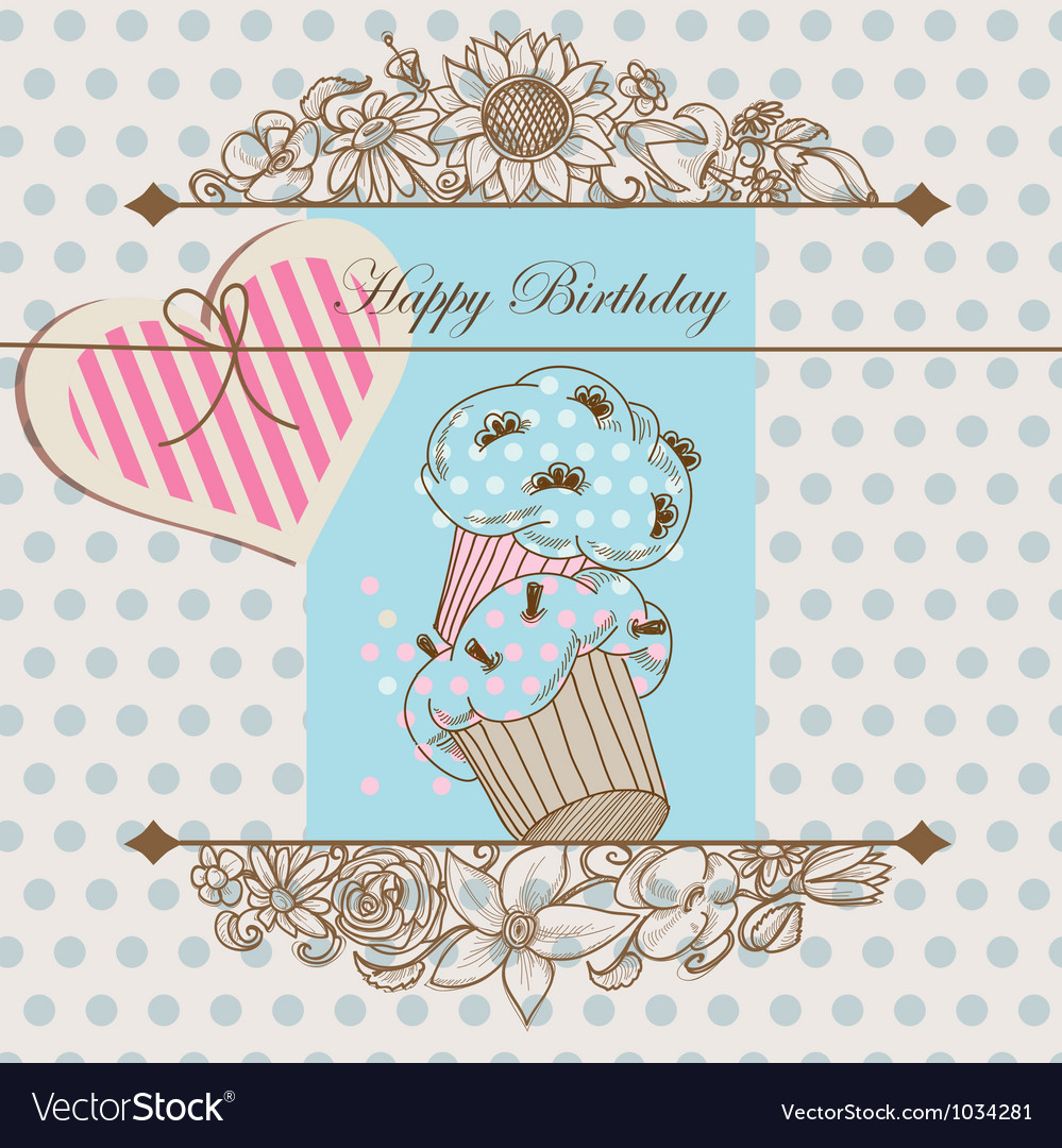 Birthday card or baby shower template