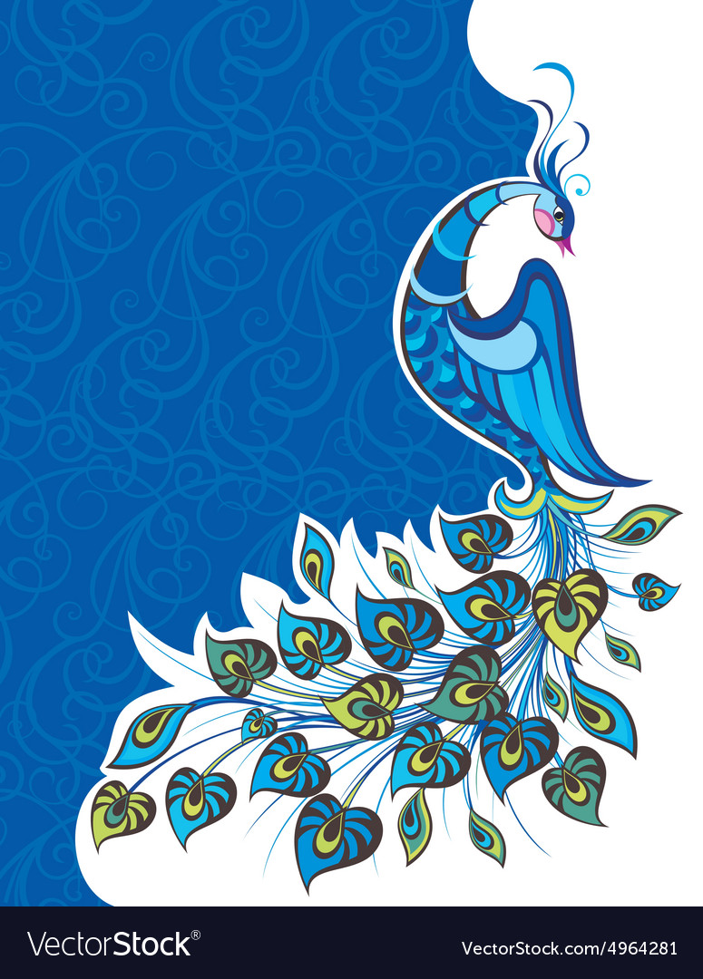 Decorative colorful Peacock vector image