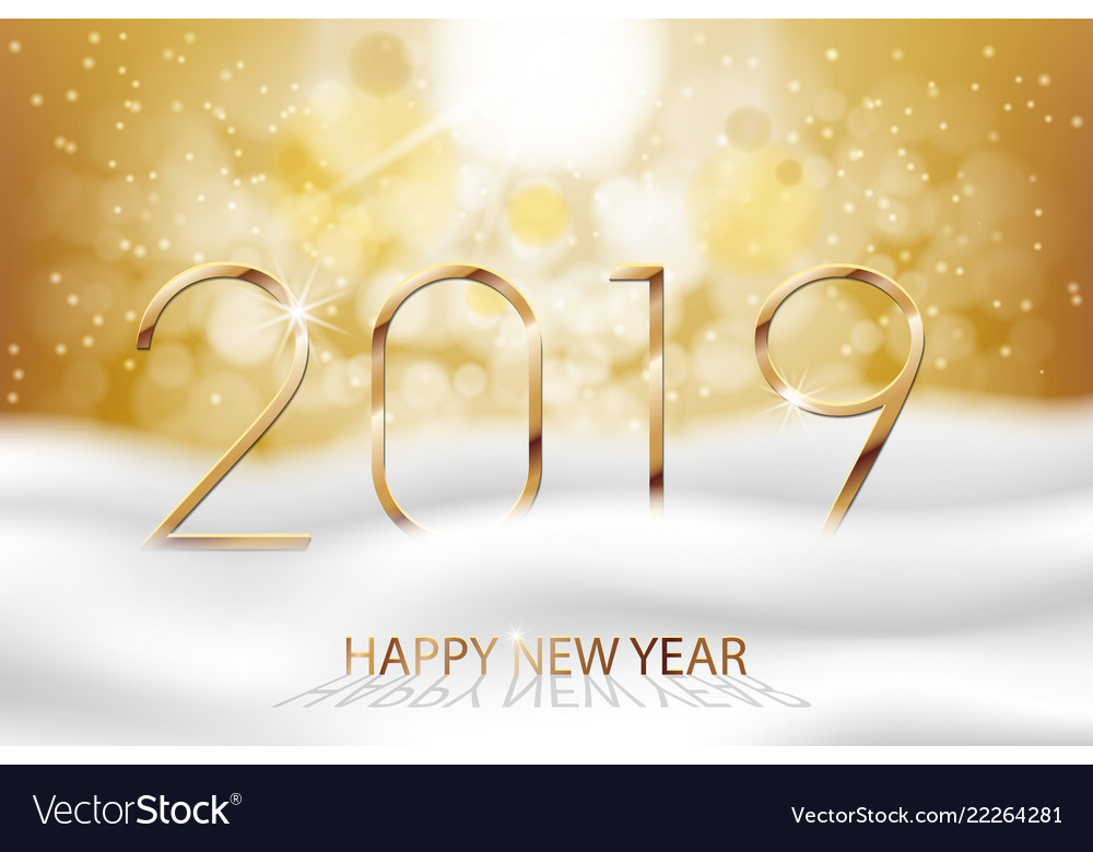 Happy new year 2019 - new year colorful
