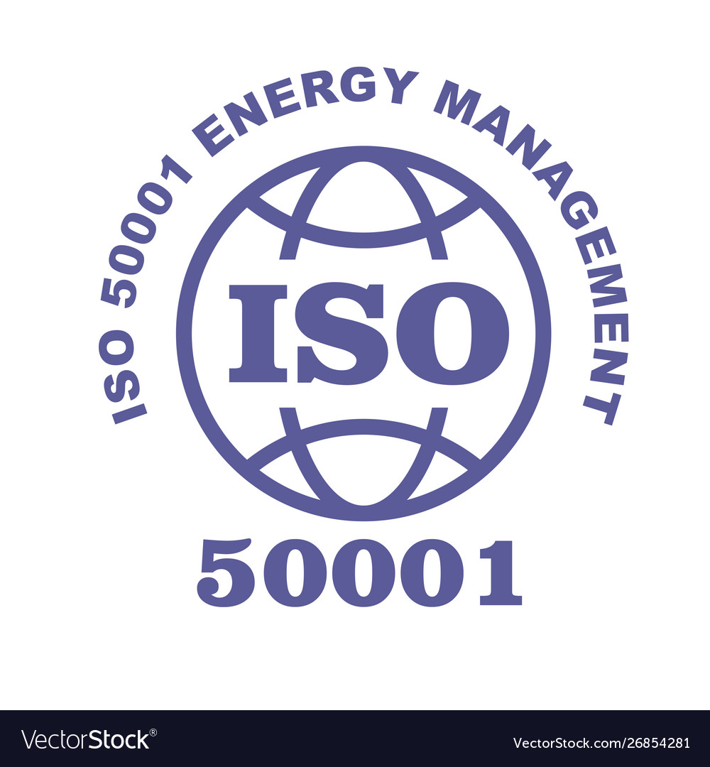 Iso 50001 stamp sign - energy management systems