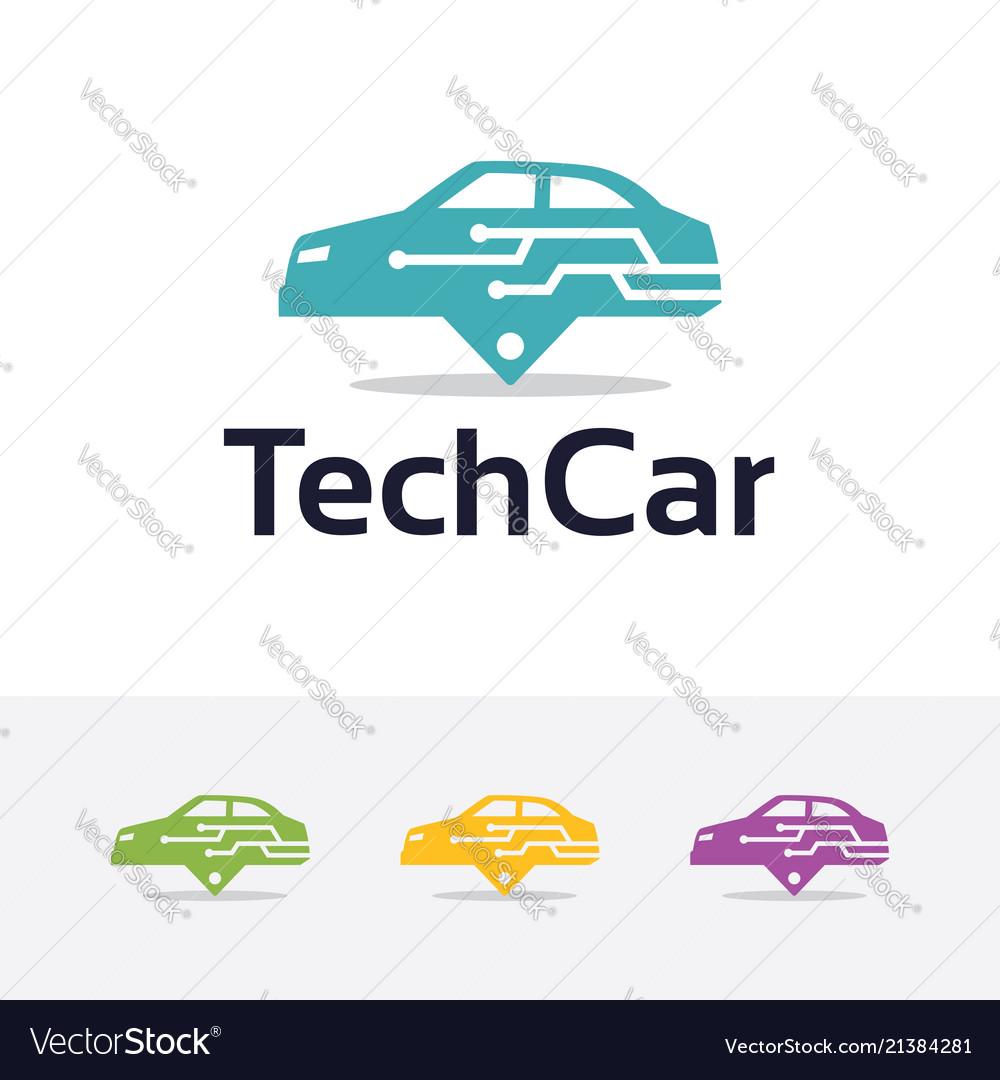 Logo of technology car