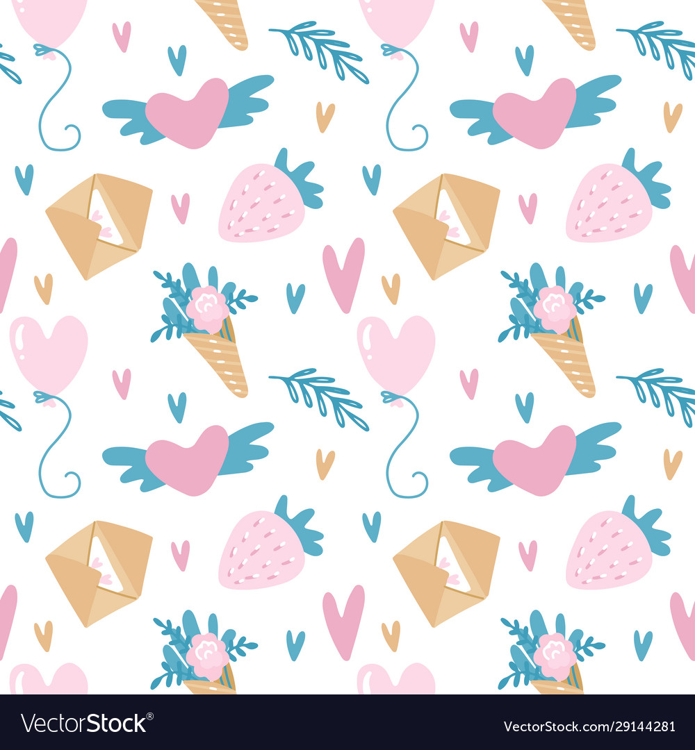 Seamless pattern for valentine s day in
