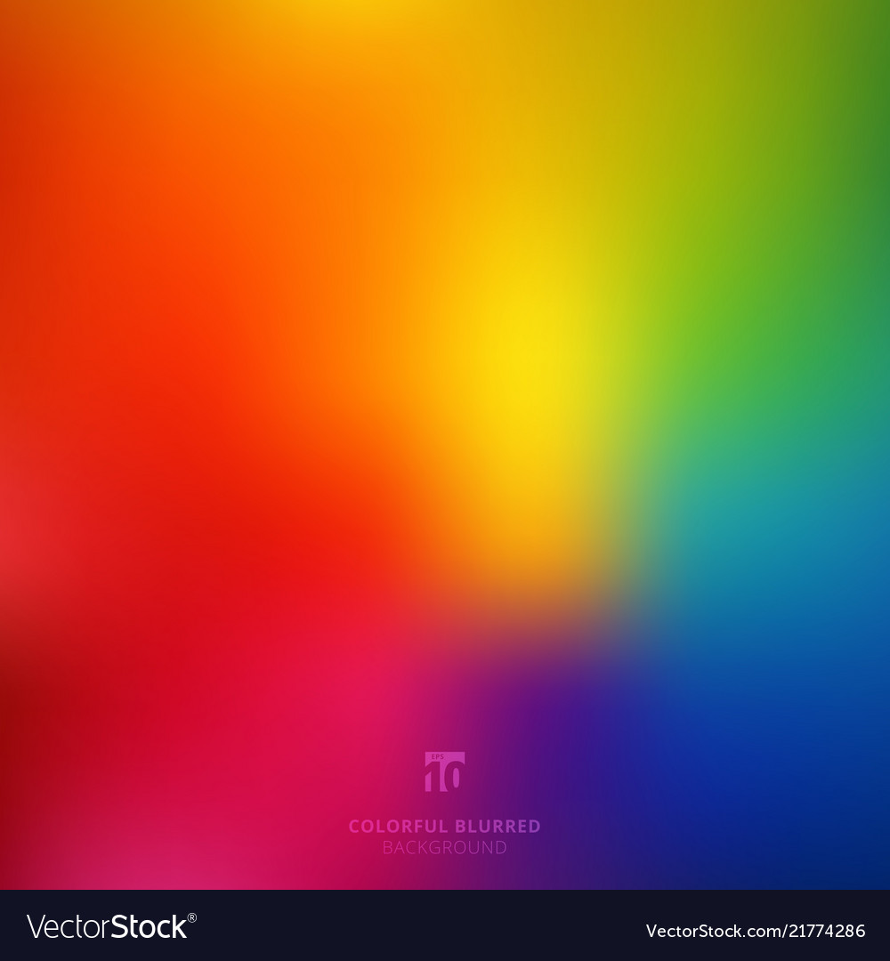 Abstract smooth blurred colorful bright rainbow