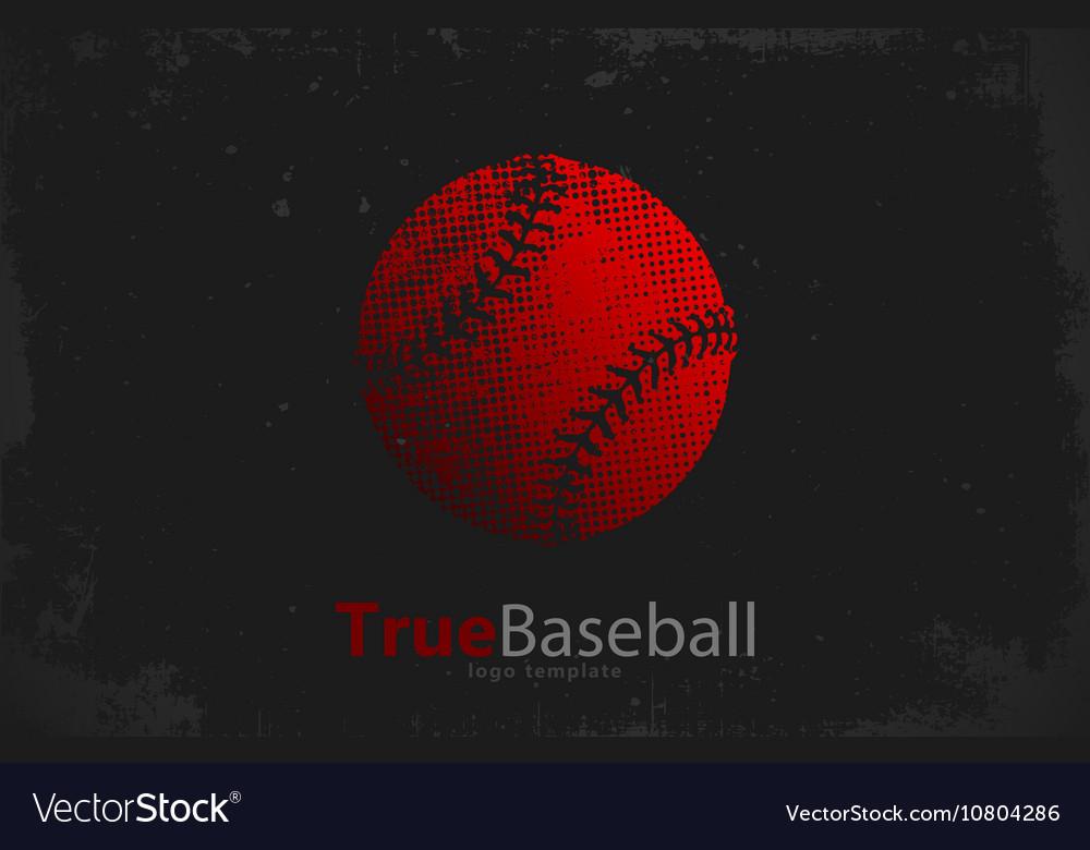 Baseball logo Baseball ball design Grunge logo